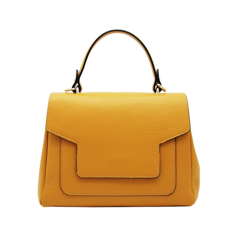 b1a064fd773 Žlutá kabelka z pravé kůže Andrea Cardone Calliso