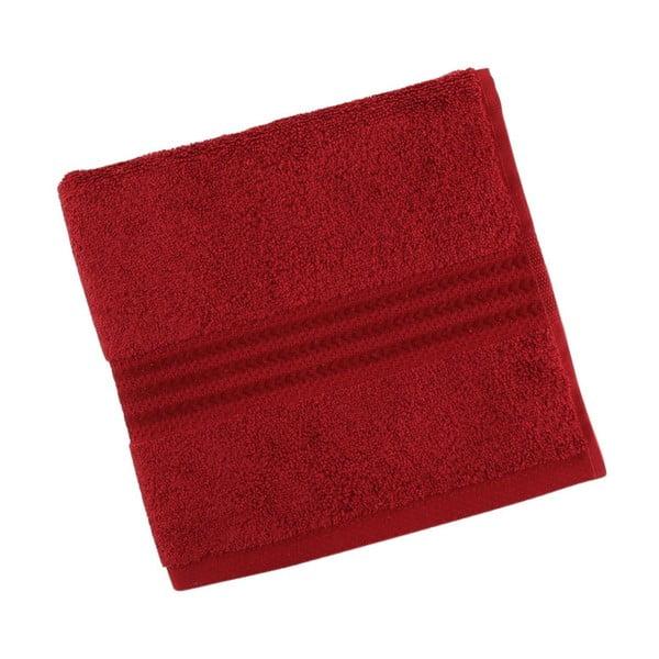 Červený bavlněný ručník Rainbow Red, 50 x 90 cm