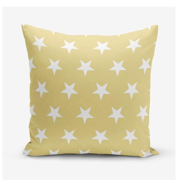 Žlutý povlak na polštář s motivem hvězd Minimalist Cushion Covers, 45 x 45 cm