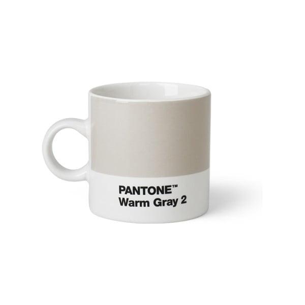 Cană Pantone Espresso, 120 ml, gri deschis