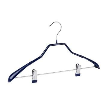 Umeraș antiderapant cu clipsuri pentru haine Wenko Hanger Shape, albastru de la Wenko