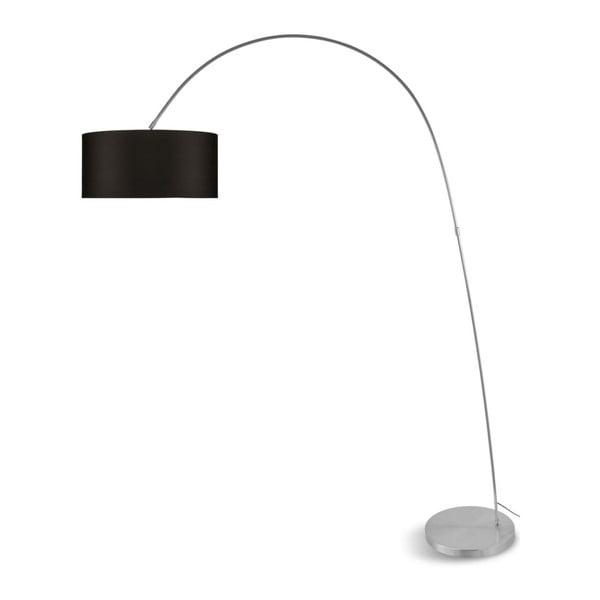 Šedá volně stojící lampa s tmavě hnědým stínidlem Citylights Bolivia