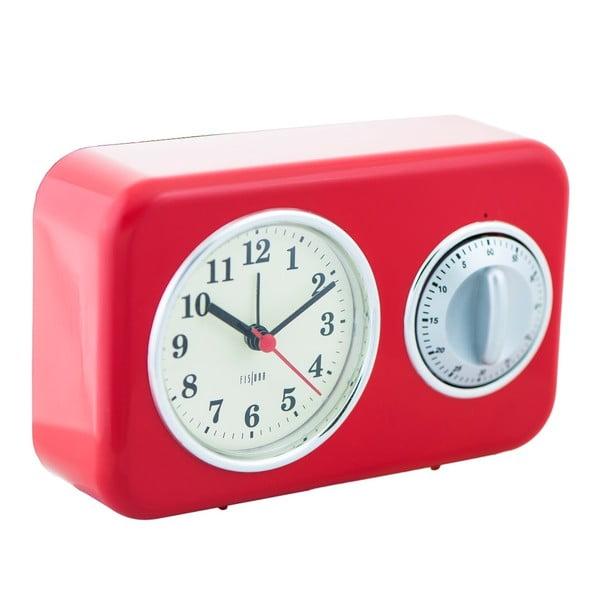 Kuchyňské hodiny s minutkou Red Vintage
