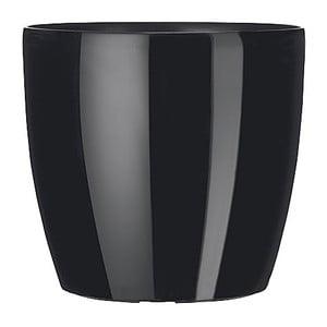 Vysoce odolný květináč Casa Brilliant 18 cm, černý