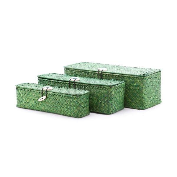Sada 3 krabic Seagrass Green