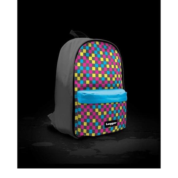 Batoh Bratpack Multicheck Black and Blue