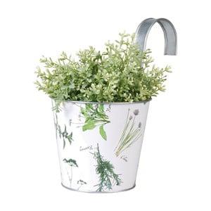 Závěsný plechový květináč Esschert Design Herbs