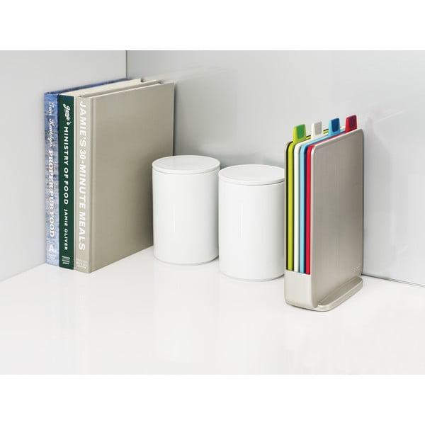 Sada světle šedého stojanu se 4 prkénky Joseph Joseph Index Index,15x20,5cm