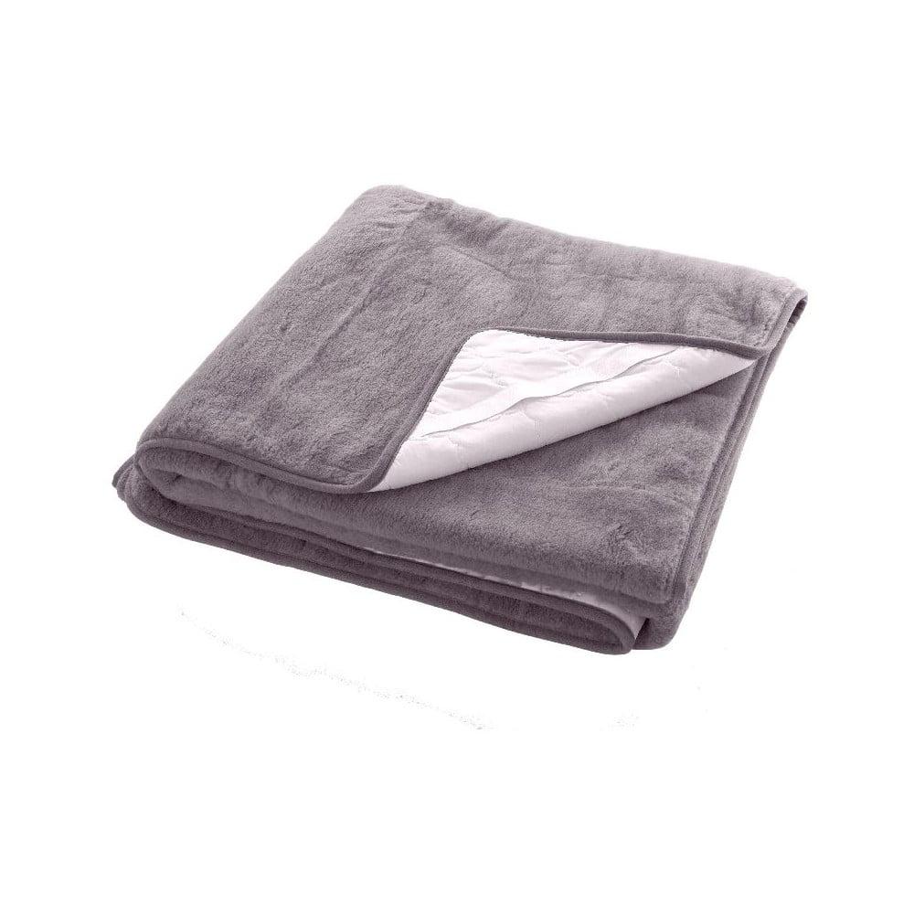Šedá deka z merino vlny Royal Dream Sia, 140 x 200 cm
