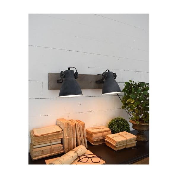 Old Factory Duo sötétszürke fali lámpa - Orchidea Milano