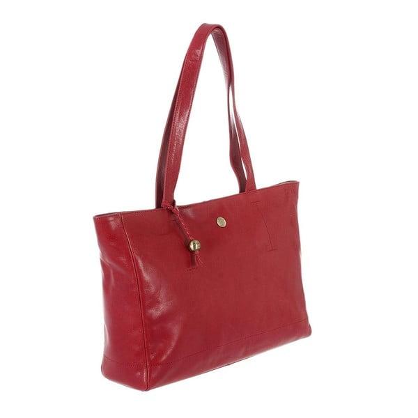 Dámská kožená taška Rita Cranberry