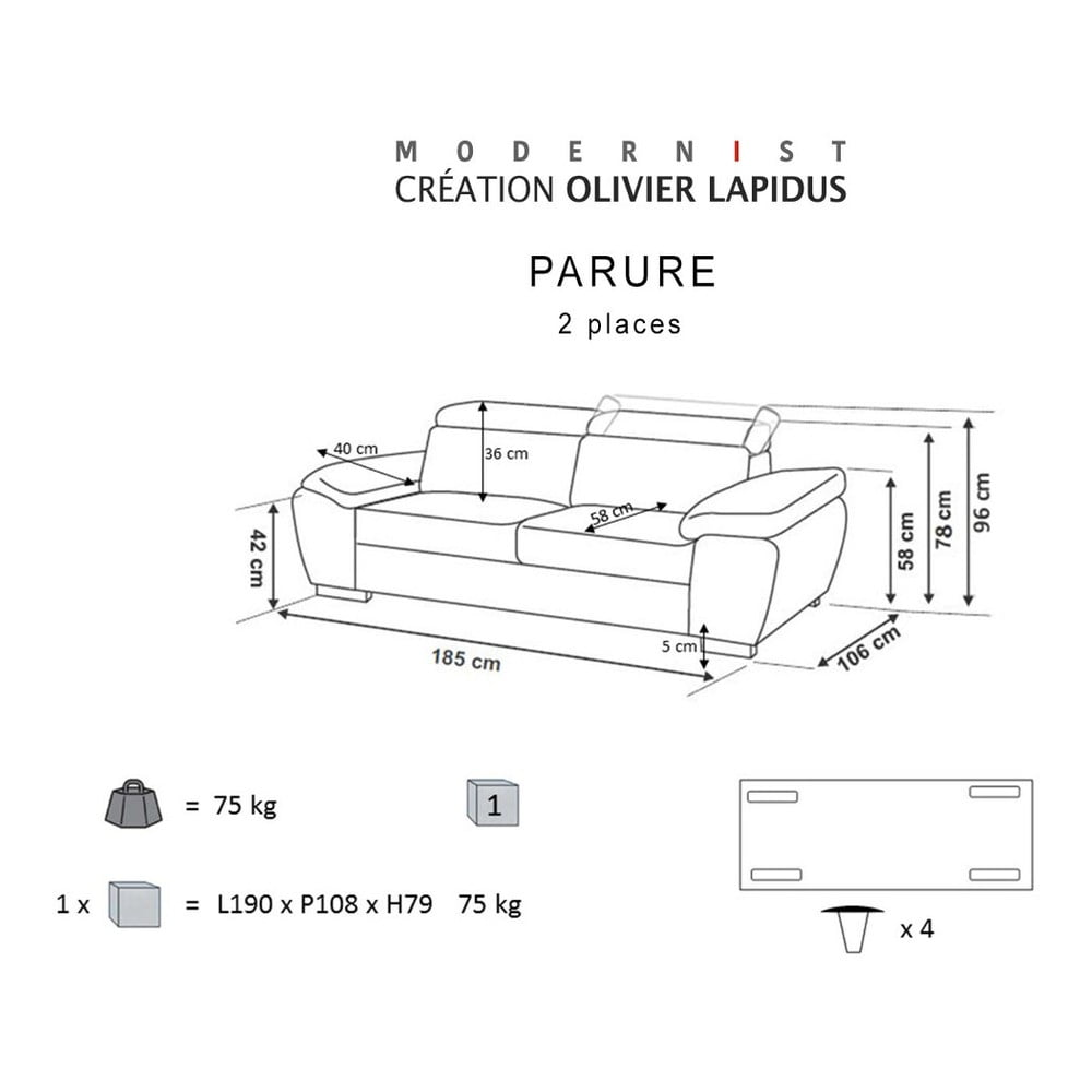 canapea modernist parure maro bonami. Black Bedroom Furniture Sets. Home Design Ideas