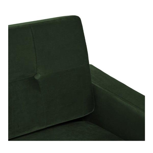 Tmavě zelené křeslo Vivonita Ina Trend