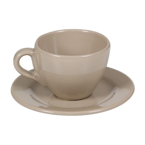 Set 6 cești din ceramică cu farfurioară Santiago Pons Saucers, bej