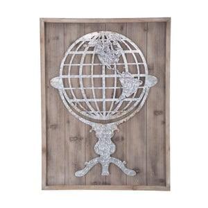 Dřevěná nástěnná dekorace Mauro Ferretti Metal World Lux,60x80cm