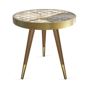 Příruční stolek Rassino Needlecraft Marble Circle, ⌀ 45 cm
