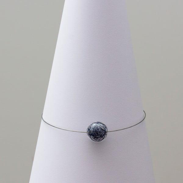 Skleněný náhrdelník ko-ra-le Wired, modrý