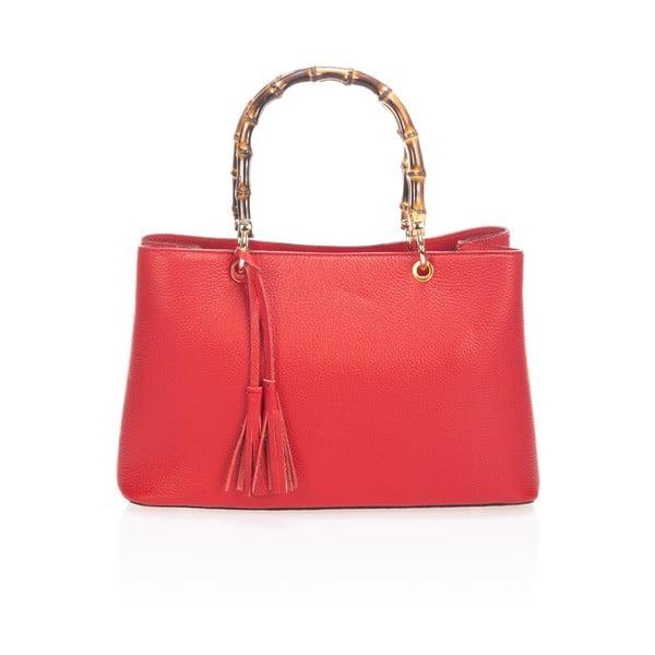 Kožená kabelka Markese 5028 Red