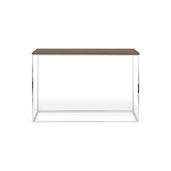 Konzolový stolík s orechovou dyhou TemaHome