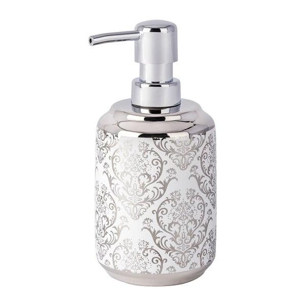 Srebrno-biały dozownik do mydła Wenko Barock