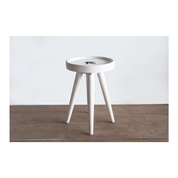 Odkládací stolek Preston Button Grey
