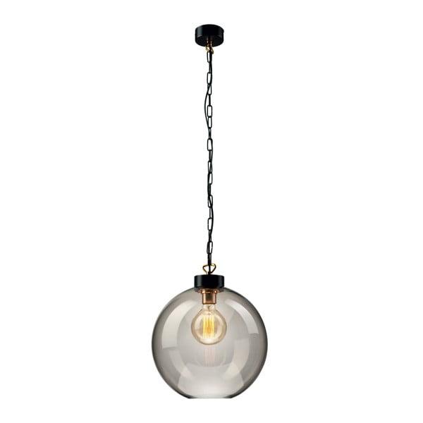 Szklana lampa wisząca w szarym kolorze Lamkur Smoky