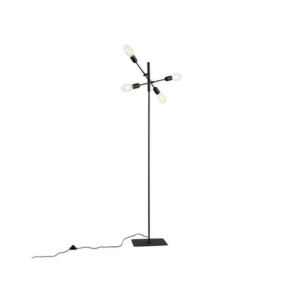 Čierna stojacia lampa na 4 žiarovky Custom Form Twigo