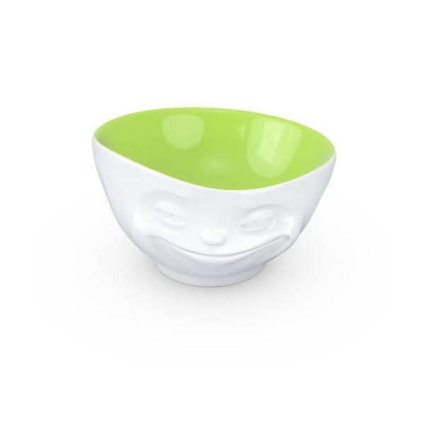 Bílo-pistáciová porcelánová usměvavá miska 58products