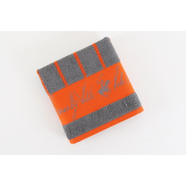 Bavlněný ručník BHPC 50x100 cm, oranžovo-šedý