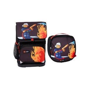 Malý školní batoh s taštičkou LEGO® City Fire