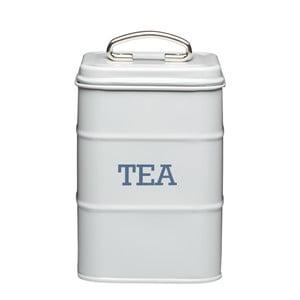 Plechová dóza na čaj Kitchen Craft Nostalgia, světle šedá