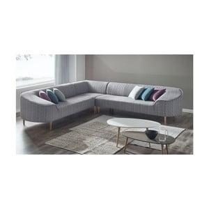 Canapea pe colț Bobochic Barca, gri