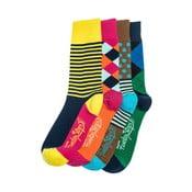 Sada 4 párů unisex ponožek Funky Steps Dina, velikost39/45