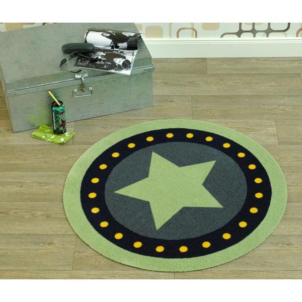 Koberec Deko - zelená hvězda, 100 cm