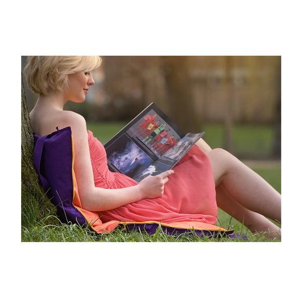 Skládací sedák Hhooboz 100x50 cm, tyrkysový