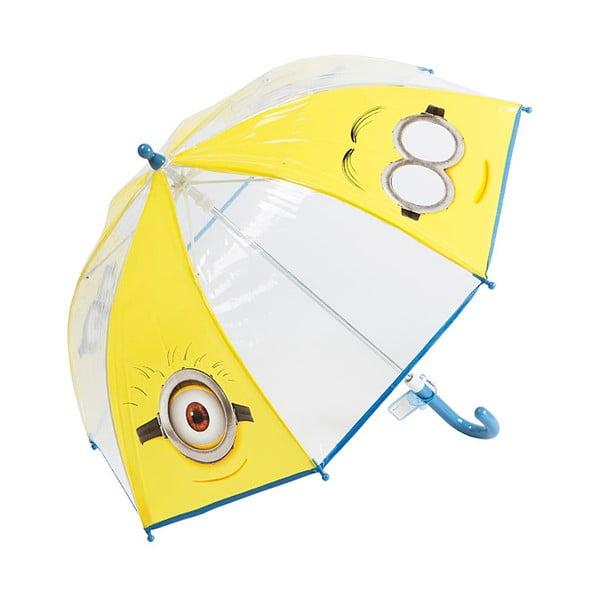 Dětský transparentní holový deštník Birdcage Minions, ⌀60cm