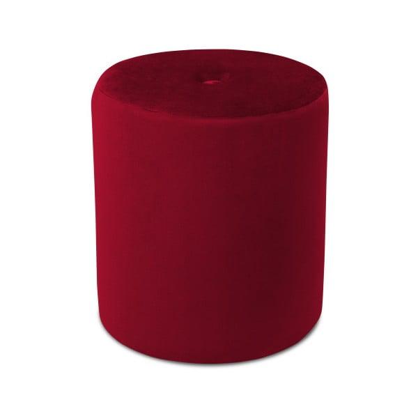 Červený puf Mazzini Sofas Fiore, ⌀ 40 cm