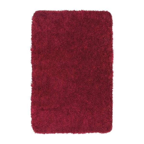 Červená koupelnová předložka Wenko Mélange, 90x60cm