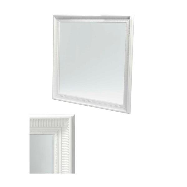 Bílé nástěnné zrcadlo Furnhouse Reflection,113x113cm