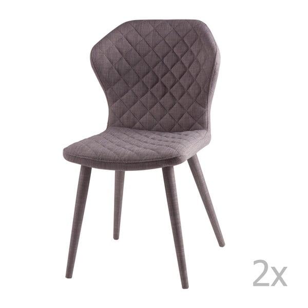 Set 2 scaune sømcasa Avery, gri