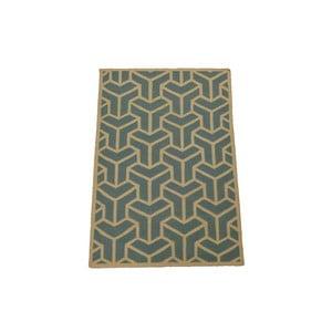 Ručně tkaný koberec Grey Geometry, 120x180 cm