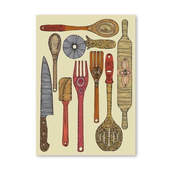 Autorský plakát Let's Cook od Valentiny Ramos