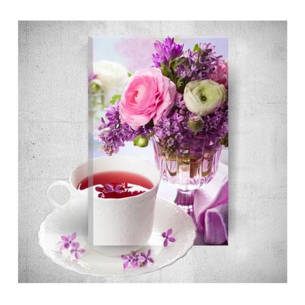 Romantic Tea Time 3D fali kép, 40 x 60 cm - Mosticx