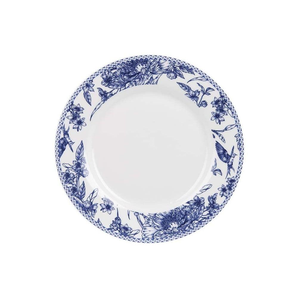 Dezertní talíř z kostního porcelánu Ashdene Indigo Blue, ⌀19cm