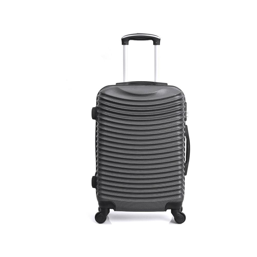 Tmavě šedý kufr na kolečkách Hero Etna, 96 l