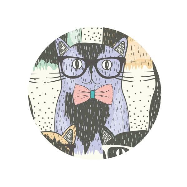 Sada 2 odkládacích stolků Cats In Glasses, 35 cm + 49 cm