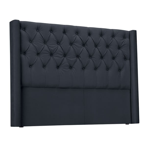 Šedé čelo postele Windsor & Co Sofas Queen, 216 x 120 cm