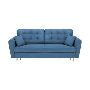 Modrá třímístná rozkládací pohovka s úložným prostorem Cosmopolitan Design Grenoble