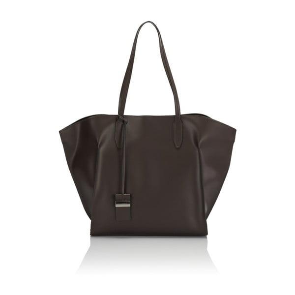 Tmavě hnědá kožená kabelka Giulia Massari Latina