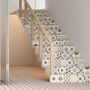Sada 2 samolepek na schody Ambiance Stickers Stair Design, 15 x 105 cm